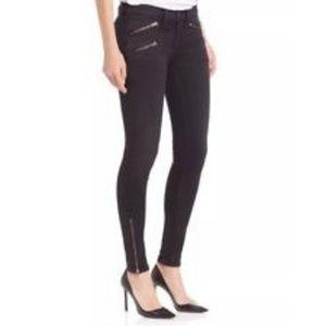 Rag & Bone Black Moto Skinny Jeans